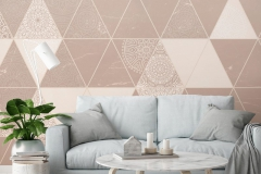 mock up poster frame in hipster interior living roombackground, scandinavian style, 3D render, 3D illustration