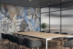 Wooden meeting room interior