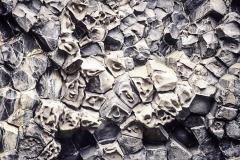 """Basaltformation """"Echofelsen"""" (Hljóðaklettar) im Jökulsárgljúfur- Nationalpark , Nordisland, Island, Europa"""